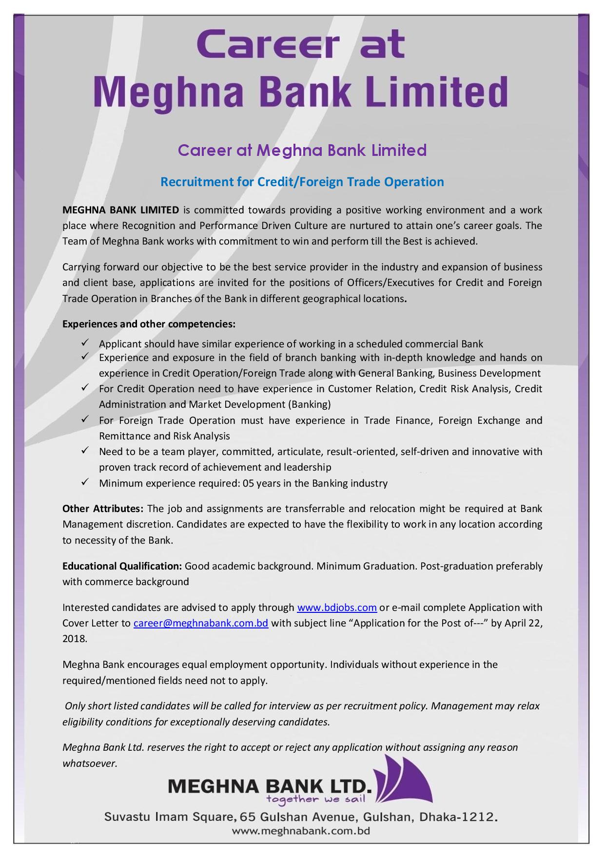 limited bank jobs