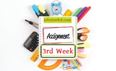 3rd Week Assignment