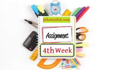 4th Week Assignment Answer 2021